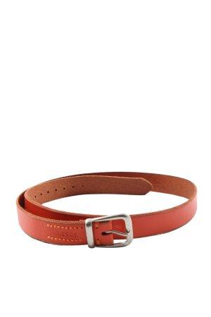 Fossil Cinturón de cuero de imitación rojo look casual