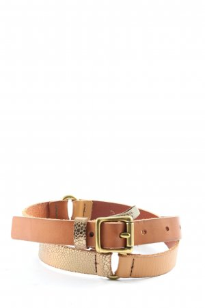 Fossil Faux Leather Belt brown-natural white casual look