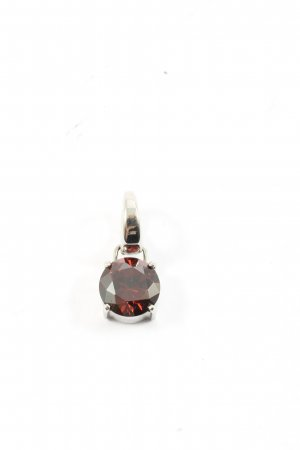 Fossil Medaglione argento-rosso elegante