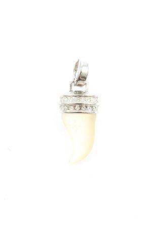 Fossil Medalik kremowy-srebrny Elegancki
