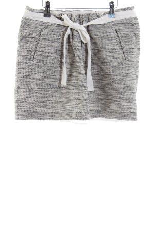 Fossil Mini-jupe gris clair-blanc moucheté style décontracté