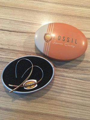 Fossil Dangle rose-gold-coloured stainless steel