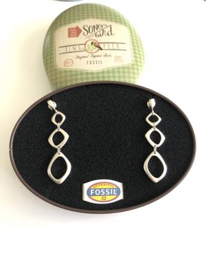 Fossil Ohrringe/Stecker Silber