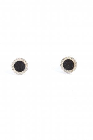 Fossil Ear stud black-silver-colored casual look