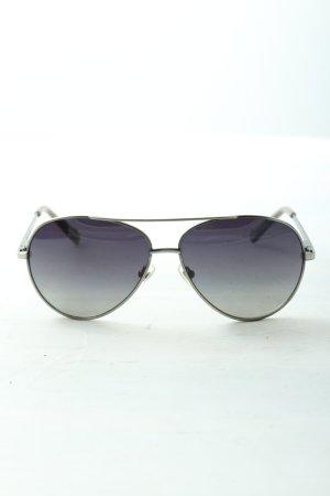 Fossil Pilotenbril zwart-zilver casual uitstraling
