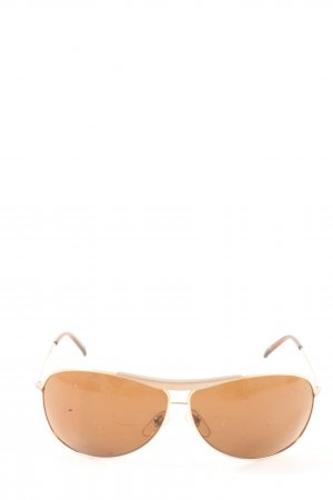Fossil Pilot Brille goldfarben Casual-Look