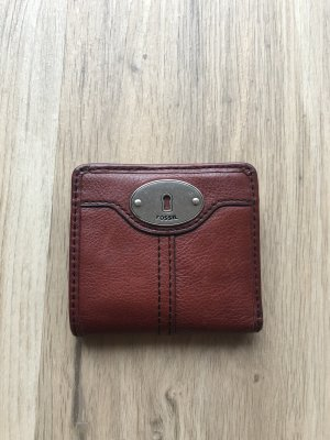 Fossil Wallet cognac-coloured leather