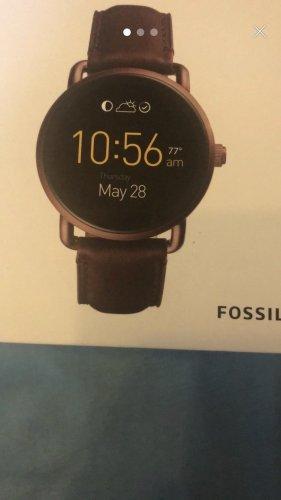 Fossil q Wander smartwatch weinrot