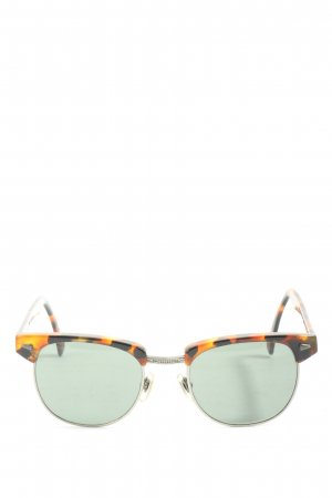 Fossil Karée Brille Animalmuster Casual-Look