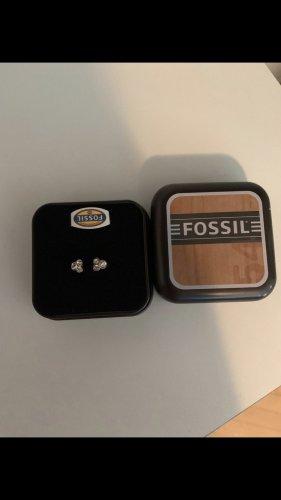 Fossil Srebrny pierścionek w kolorze różowego złota-brąz