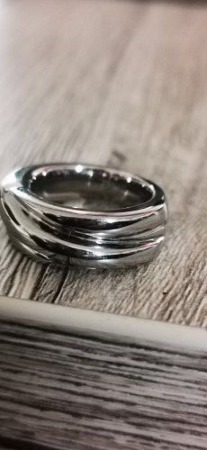 Fossil Ring Edel Stahl Silber  Gr 16  neu ungetragen