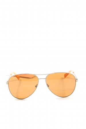 Fossil Pilot Brille hellorange-silberfarben Casual-Look