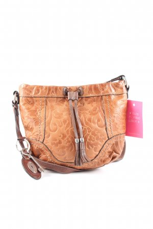 Fossil Schultertasche hellorange-nude Allover-Druck Casual-Look