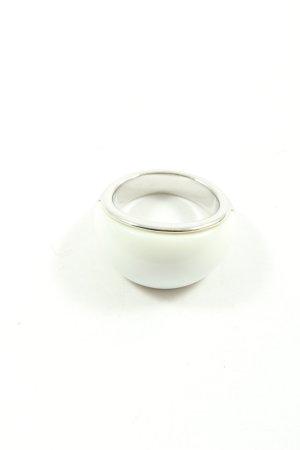 Fossil Silberring silberfarben-weiß Casual-Look