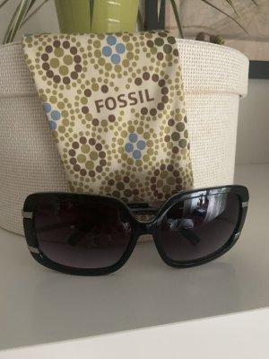 Fossil Hoekige zonnebril zwart