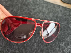 Fossil Gafas de sol ovaladas rojo