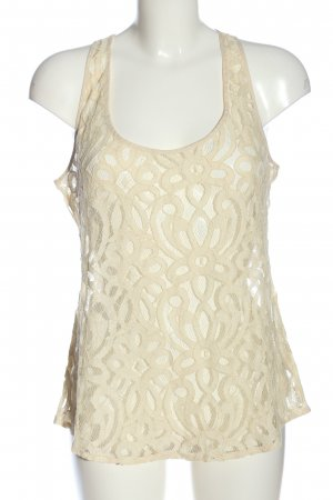 Fossil Lace Top cream casual look