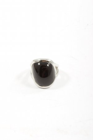 Fossil Statement Ring silver-colored-black vintage look