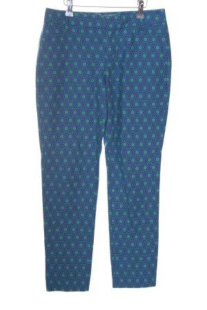 Fossil Pantalon en jersey bleu-vert imprimé allover style décontracté