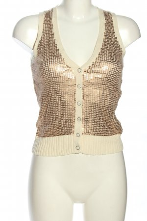 Fossil Knitted Top natural white-bronze-colored casual look