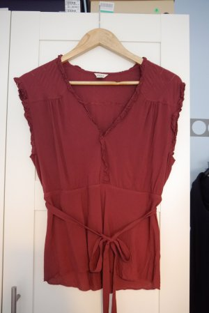Fossil Top rouille-brun rouge