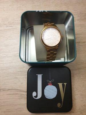 Fossil Reloj con pulsera metálica color rosa dorado acero inoxidable