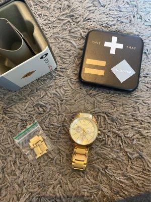 Fossil Watch With Metal Strap gold-colored