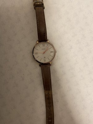 Fossil Watch With Leather Strap brown