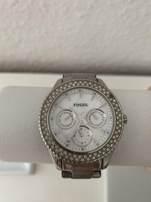 Fossil Horloge met metalen riempje zilver-lichtgrijs