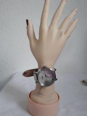 Fossil Montre avec bracelet en cuir blanc