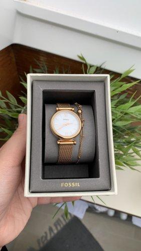 Fossil Reloj analógico color oro-blanco