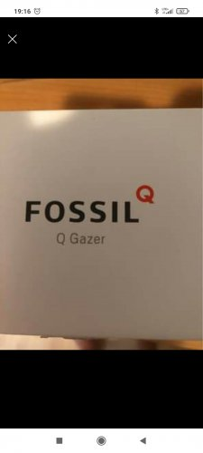 Fossil Reloj digital marrón