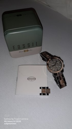 Fossil Watch With Metal Strap grey brown