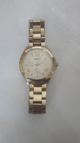 Fossil Reloj con pulsera metálica color oro