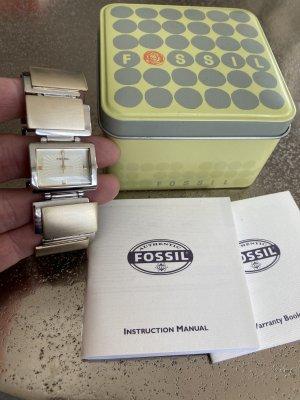 Fossil Uhr Glieder Armband Gold Silber Metall
