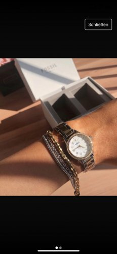 Fossil Uhr Gold silber