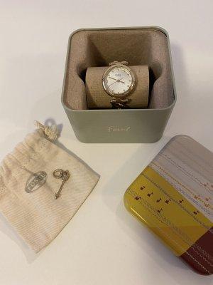 Fossil Uhr mit Gliederkettenarmband Gold