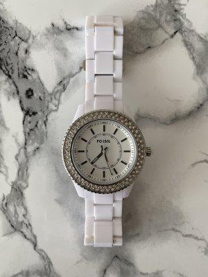 Fossil Uhr mit Glitzersteinen - wie neu