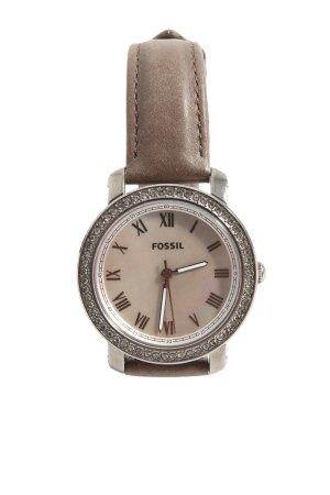 Fossil Uhr mit Lederarmband braun Casual-Look