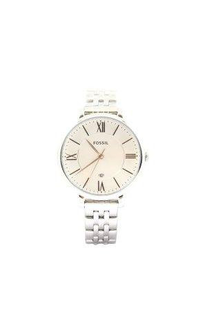 Fossil Uhr mit Metallband silberfarben-weiß Business-Look