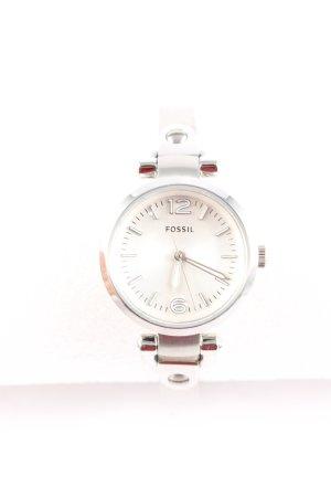 Fossil Uhr mit Metallband silberfarben Elegant