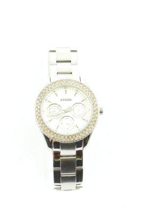 Fossil Uhr mit Metallband silberfarben Business-Look