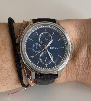 Fossil Uhr mit schwarzen Lederband