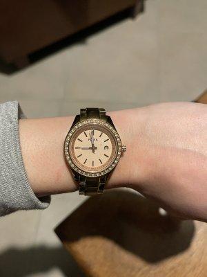 Fossil Analoog horloge roségoud-goud
