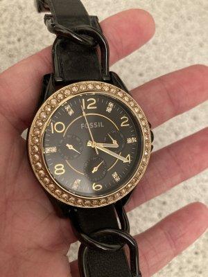 Fossil Uhr schwarz