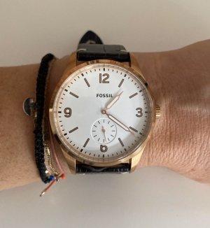 Fossil Uhr schwarz/rosé unisex