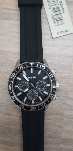 fossil Uhr schwarz Silikon neu
