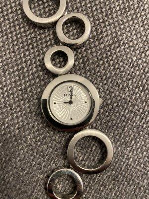 Fossil Montre avec bracelet métallique argenté-blanc