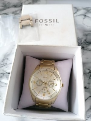 Fossil watch gold