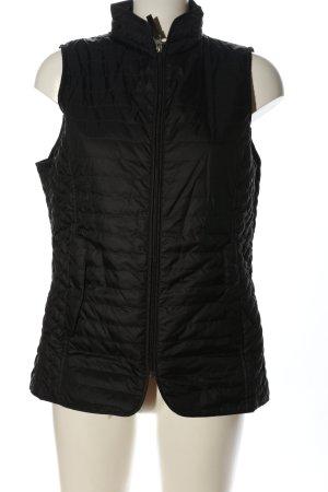 Fouganza Gewatteerd vest zwart quilten patroon casual uitstraling